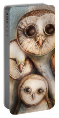 Three Wise Owls Portable Battery Charger
