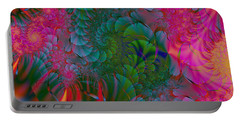 Portable Battery Charger featuring the digital art Through The Electric Garden by Elizabeth McTaggart