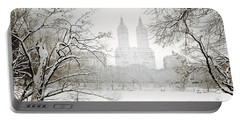 Through Winter Trees - Central Park - New York City Portable Battery Charger