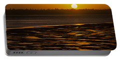 Portable Battery Charger featuring the photograph Tidal Pattern At Sunset by Jeff Goulden