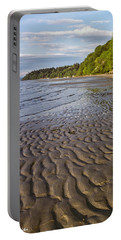 Portable Battery Charger featuring the photograph Tidal Pattern In The Sand by Jeff Goulden