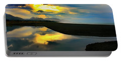 Portable Battery Charger featuring the photograph Tidal Pond Sunset New Zealand by Amanda Stadther