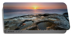 Tide Pool Sunset Portable Battery Charger by Michael Ver Sprill