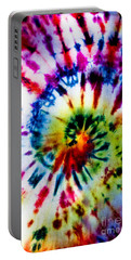 Tie Dyed T-shirt Portable Battery Charger by Cheryl Baxter