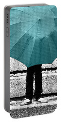 Tiffany Blue Umbrella Portable Battery Charger