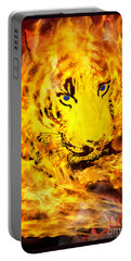 Portable Battery Charger featuring the photograph Tiger For Sale by Gary Keesler