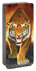 Tiger From The Embers Portable Battery Charger