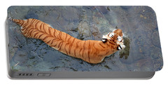 Portable Battery Charger featuring the photograph Tiger In The Stream by Robert Meanor
