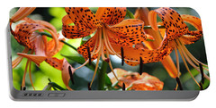 Tiger Lilies Portable Battery Charger