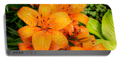 Tiger Lily After Morning Rain Portable Battery Charger