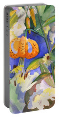 Tiger Lily In Dappled Light  Portable Battery Charger