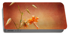 Tiger Lily Portable Battery Charger by Lena Auxier