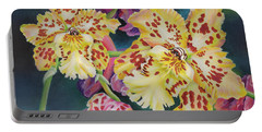 Tiger Orchid Portable Battery Charger by Jane Girardot