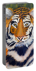 Tiger Portable Battery Charger by Pamela  Meredith