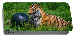 Tiger Playing With Ball Portable Battery Charger