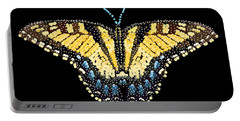 Tiger Swallowtail Butterfly Bedazzled Portable Battery Charger