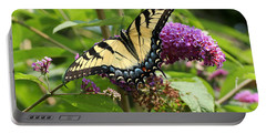 Tiger Swallowtail On Butterfly Bush Portable Battery Charger