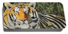 Portable Battery Charger featuring the painting Tigress by Jeanne Fischer