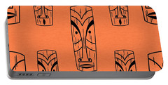 Tiki On Orange Pillow Portable Battery Charger