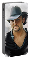 Tim Mcgraw Artwork Portable Battery Charger