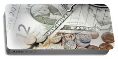 Time Is Money Concept Portable Battery Charger