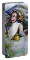 Portable Battery Charger featuring the painting Time by Laurie L
