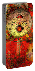Time Passes Portable Battery Charger by Ally  White