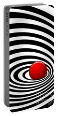 Time Tunnel Op Art Portable Battery Charger