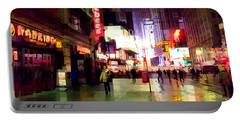 Times Square New York - Nanking Restaurant Portable Battery Charger