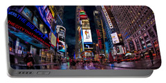 Times Square New York City The City That Never Sleeps Portable Battery Charger