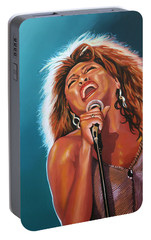 Tina Turner 3 Portable Battery Charger by Paul Meijering