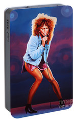 Tina Turner Portable Battery Charger by Paul Meijering