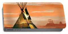 Tipi Or Tepee Monument Valley Portable Battery Charger