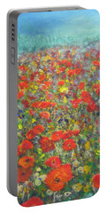 Tiptoe Through A Poppy Field Portable Battery Charger