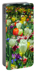 Tiptoe Through The Tulips Portable Battery Charger by Elizabeth Dow