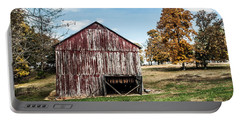 Portable Battery Charger featuring the photograph Tobacco Barn Ready For Smoking by Debbie Green