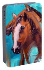 Portable Battery Charger featuring the painting Together 1 by Go Van Kampen