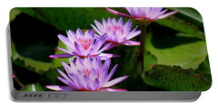 Together We Bloom - Violet Lily Portable Battery Charger