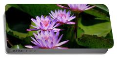 Together We Bloom - Violet Lily Portable Battery Charger