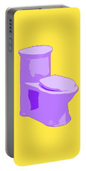 Toilette In Purple Portable Battery Charger