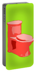 Toilette In Red Portable Battery Charger