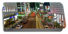 Portable Battery Charger featuring the photograph Tokyo Neon Streaks by Jonah  Anderson