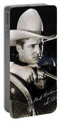 Tom Mix Portrait Melbourne Spurr Hollywood California C.1925-2013 Portable Battery Charger