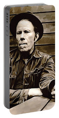 Tom Waits Artwork 2 Portable Battery Charger