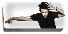 Tom Waits Artwork  4 Portable Battery Charger