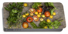 Tomatoes And Herbs Portable Battery Charger