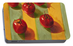 Tomatoes Portable Battery Charger by Cathy Locke