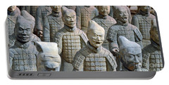 Portable Battery Charger featuring the photograph Tomb Warriors by Robert Meanor