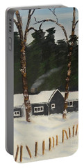 Tonys House In Sweden Portable Battery Charger by Pamela  Meredith