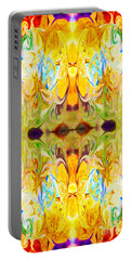 Portable Battery Charger featuring the digital art Tony's Tower Abstract Pattern Artwork By Tony Witkowski by Omaste Witkowski